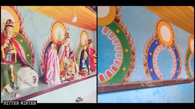 林州市雲中寺佛像被清空前後