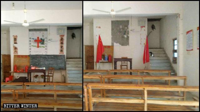 九江市都昌縣一三自聚會點被改造為黨員活動中心