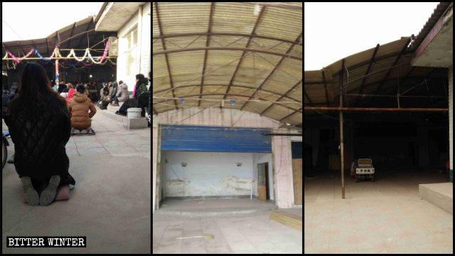 藁城區一地下天主教聚會點的設施全部清空