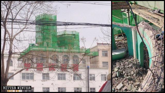 莊浪縣水洛清真寺圓頂被拆
