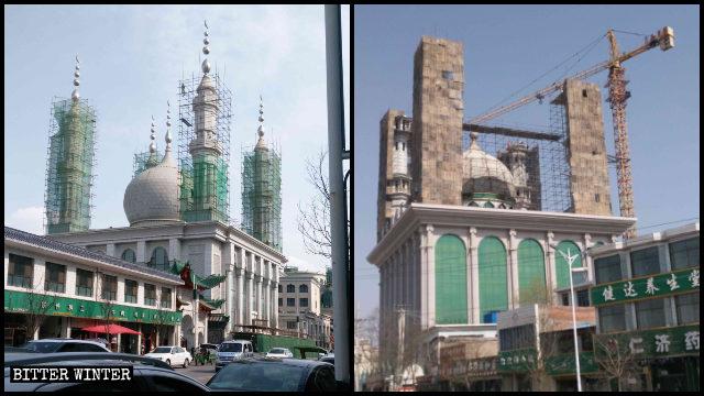 整改中的清真鐵家寺和柏家莊清真寺