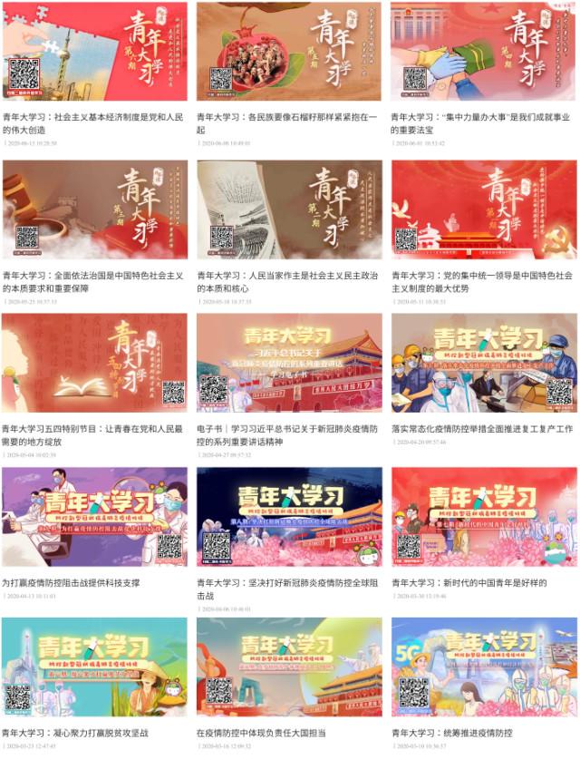 「青年大學習」主題包括「社會主義制度的優越性」「中國各民族大團結」等話題(網絡圖片)
