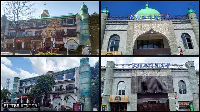 整改前後的南門清真寺、西門清真寺