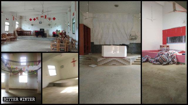 餘干縣多處被清空的教堂、聚會點