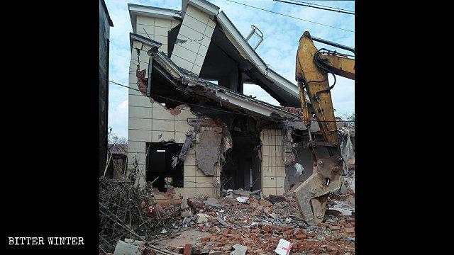 一村民的房屋被拆毀