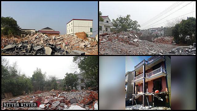 士元實驗區多處村民房屋被強拆為廢墟