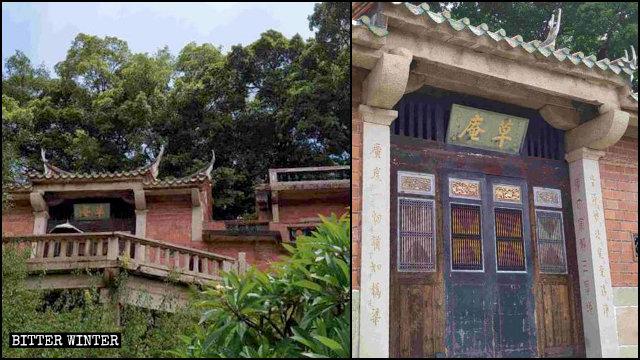 草庵寺(名稱的意思是「茅草房或小屋」,以表明原始廟宇的建造材料。)
