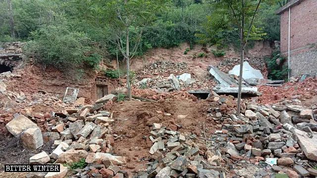 村民的房屋被夷為平地