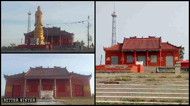 辛安廟觀音像被拆毀,廟門被封堵