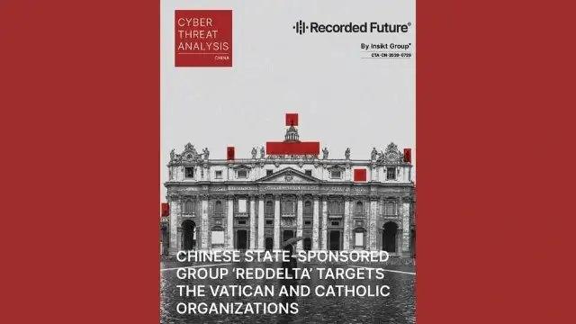 國際大型網絡安全公司「記錄未來」(Recorded Future)發布的報告封面