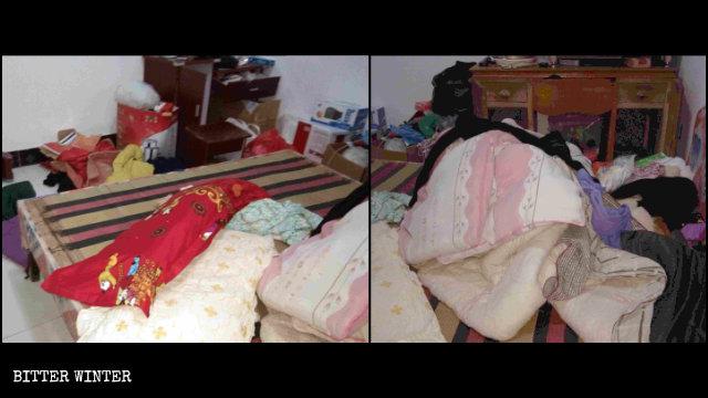 一全能神教會成員的家被警察查抄之後