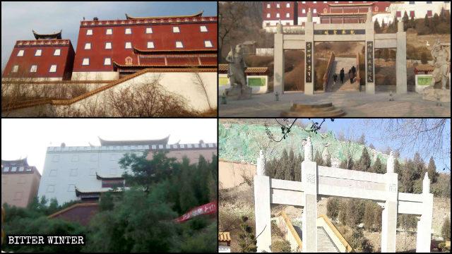 仿布達拉宮建造的「兜率宮」被改造,最終被拆