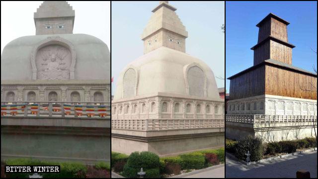 圓滿塔兩次被改造