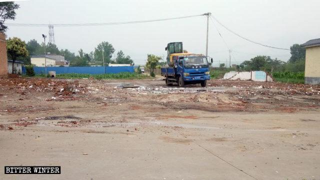 6月19日,宋窯村一三自聚會點被強拆
