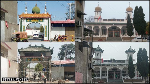 塚頭鎮清真寺屋頂如今像中國傳統建築風格一樣