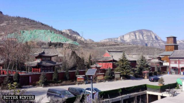 兜率宮被拆後的靈岩寺全貌圖
