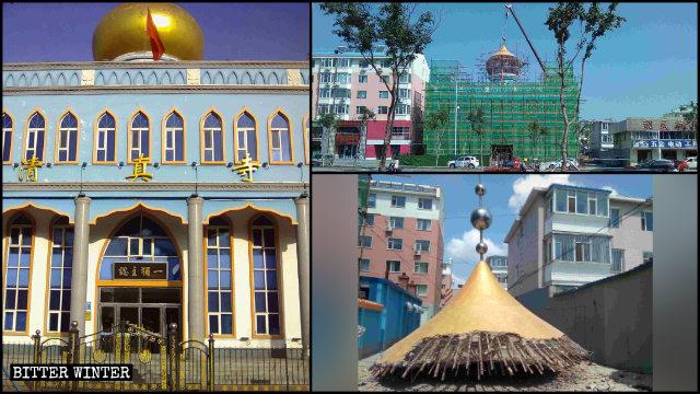 白城市一清真寺圓頂被拆除