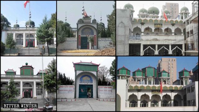 禹州市兩座清真寺圓頂以及新月標誌被迫強拆