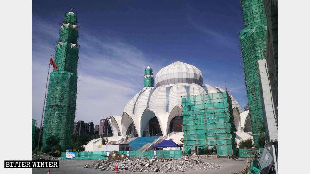 銀川閱海清真大寺被改造中