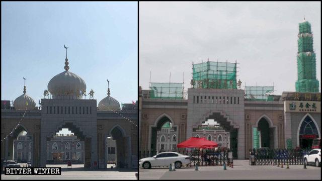 閱海清真寺大門頂部標誌被拆整改