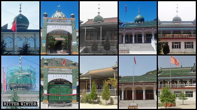 崆峒區多座清真寺圓頂被整改