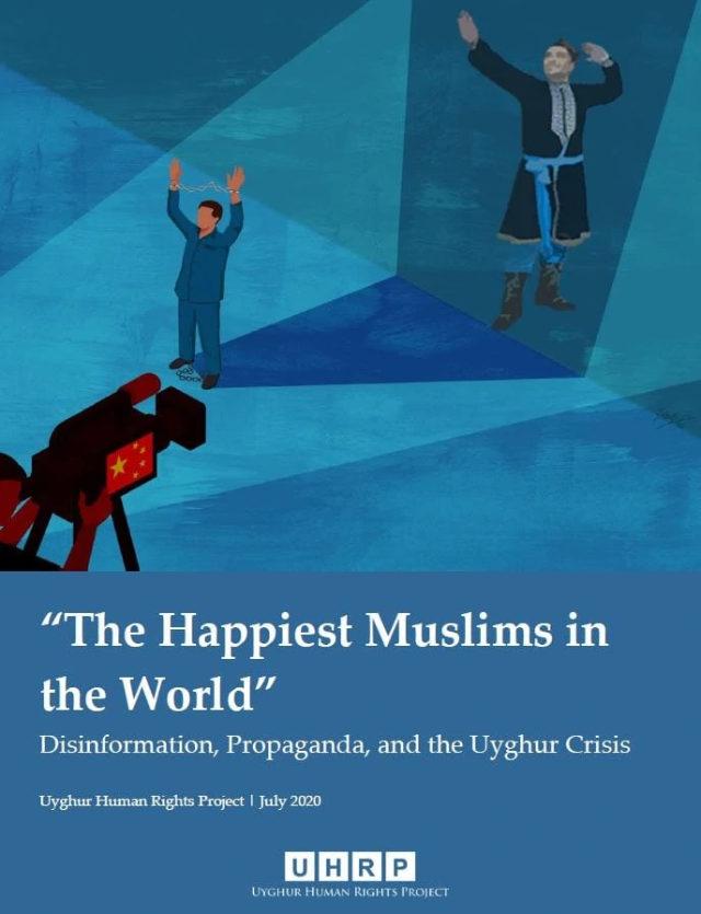 《「世界上最幸福的穆斯林」:假信息、宣傳與維吾爾人危機》報告封面