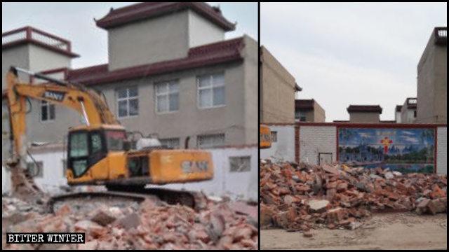 今年4月15日,復興區一座三自教堂被強拆