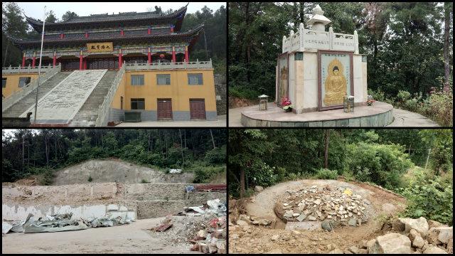 十堰市的泰山寺被夷為平地(知情人提供)