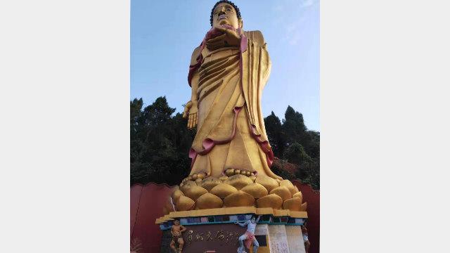 華藏寺內的阿彌陀佛接引聖像(知情人提供)