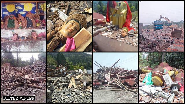 四川多地大量廟宇被強拆