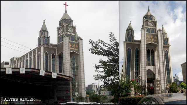 溫州龍港市基督教堂——懷恩堂十字架被拆除