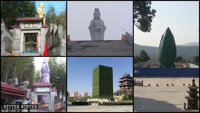 疫情前湖北省就有很多佛教造像被封蓋