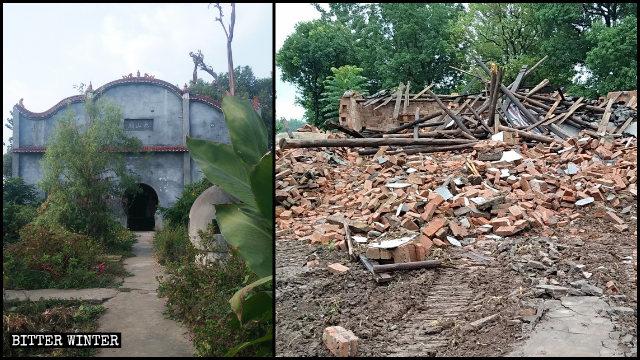 5月監利縣泰山廟被強拆