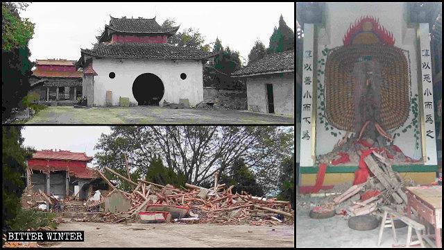 5月28日,青龍山寺廟被拆毀