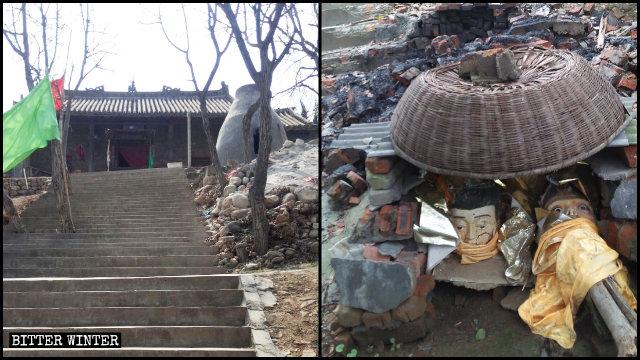 奈河奶奶廟被拆前後