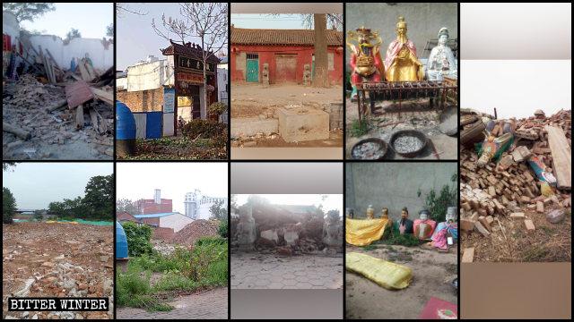 河南、湖北大量民間寺廟被拆