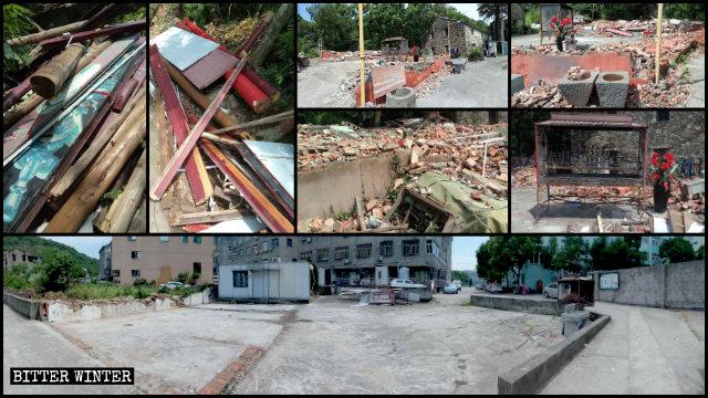 火叉口村多座民間寺廟被拆