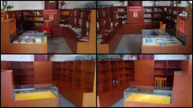 撫州市一佛教場所內佛教印刷資料都被清空下架(知情人提供)