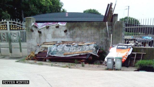 新塍鎮被拆毀的家庭教會聚會點外觀