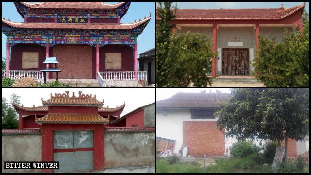 湖北多處百年廟宇因「無證」被封堵