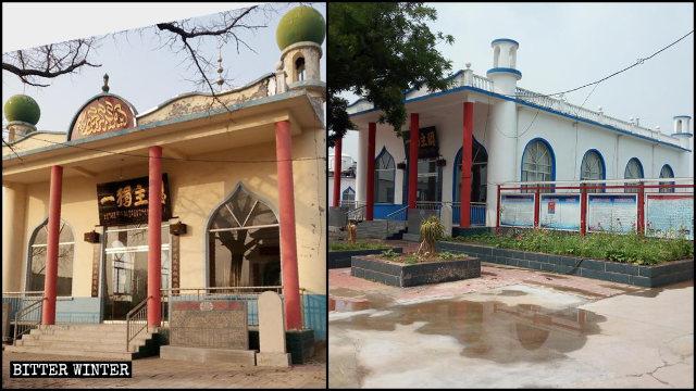清真寺外牆被刷白