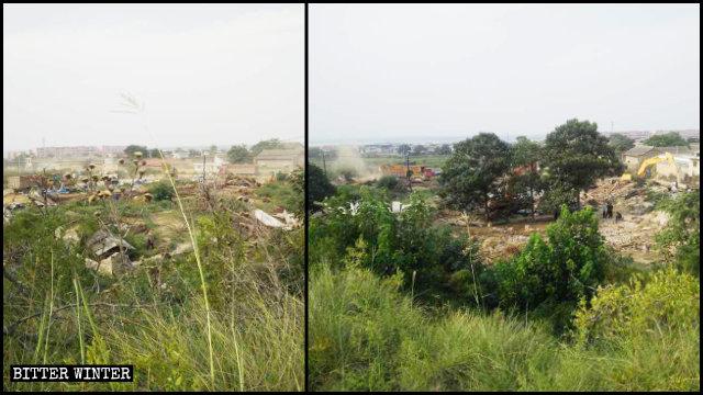 20個宣教士墓碑以及參觀信徒休息的房屋全部被拆除