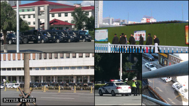 9月,內蒙古當局在一些廣場、學校門口增設警力
