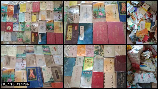 千餘本被當局要求銷毀的佛教書籍