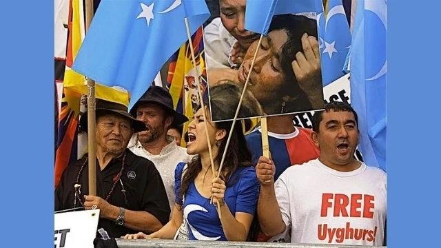 紐約維吾爾人舉行的抗議活動