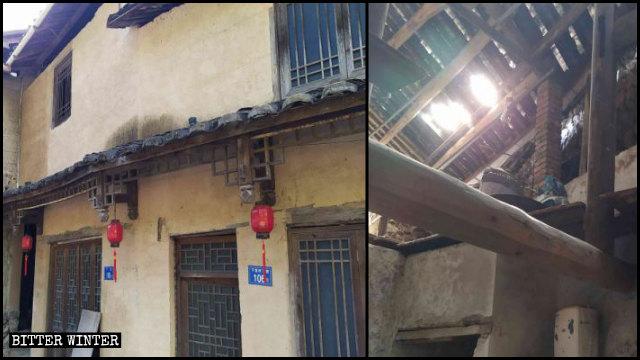 下黨村村民破舊的房屋