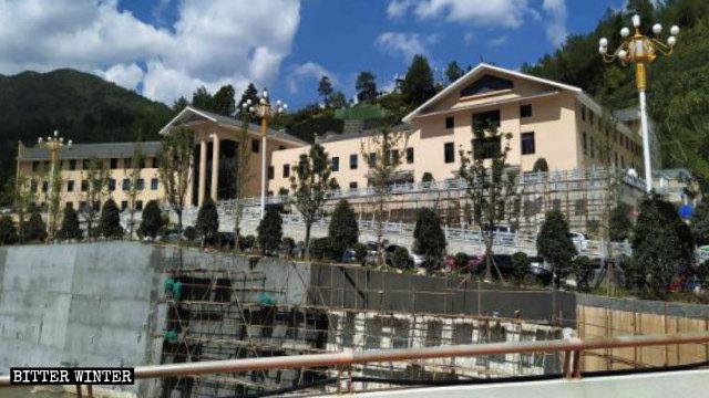 下黨村正在建設中的黨員教育基地