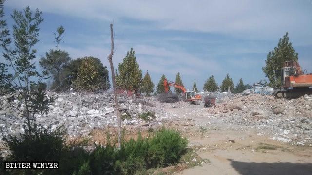 殊緣寺被拆為廢墟