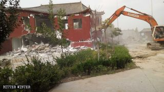 中共滅佛持續拆:河北重金建造寺廟及文物保護古寺亦遭拆