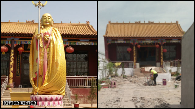 清涼寺內的佛像被移除